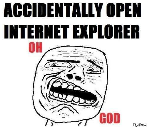 Accidentally open Internet Explorer