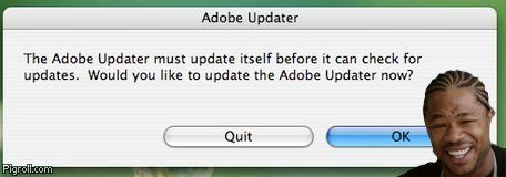 Adobe Updater must update itself before it can check for updates
