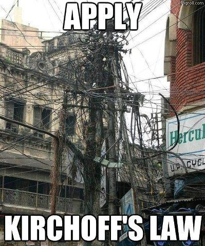 Apply Kirchoff's Law