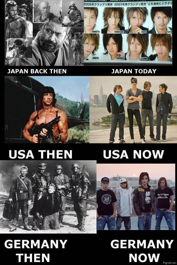 Japan, USA and Germany: then and now