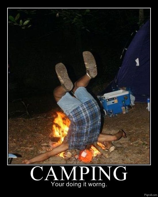 Camping: you're doing it wrong