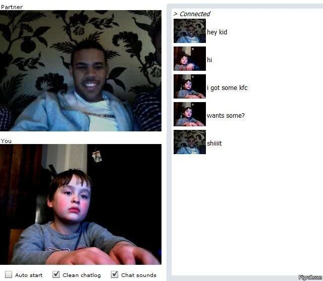 Chatroulette Kid has some KFC