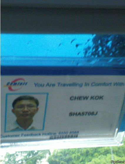 You are  travelling in comfort with Chew Kok