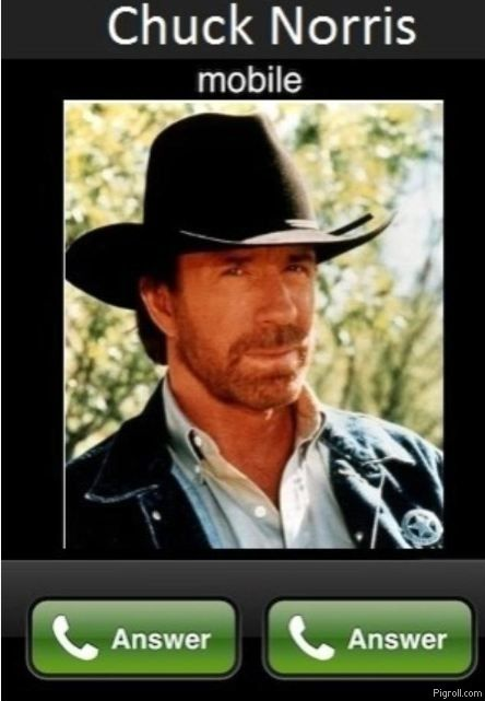 Chuck Norris mobile: answer or answer