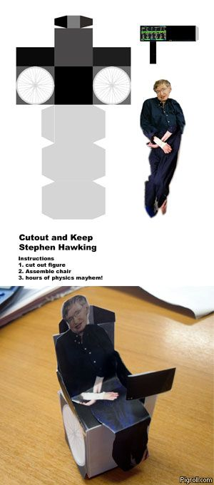 Cutout and Keep Stephen Hawking