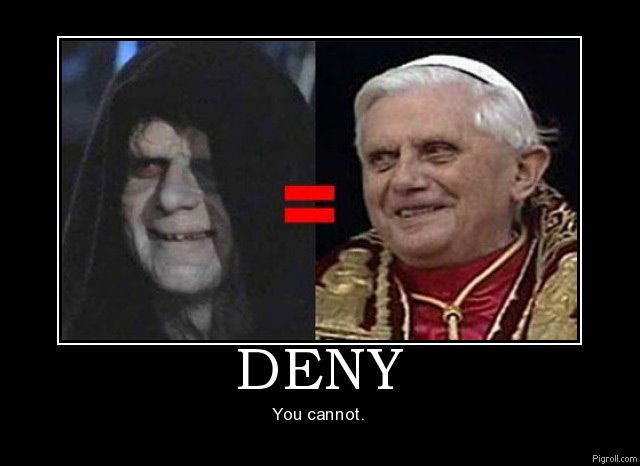 Evil pope is evil