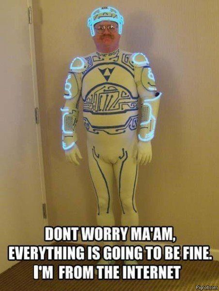 Tron guy is from the Internet