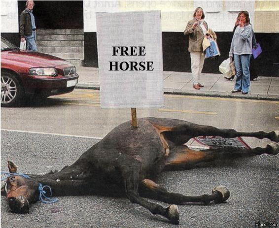 Free dead horse