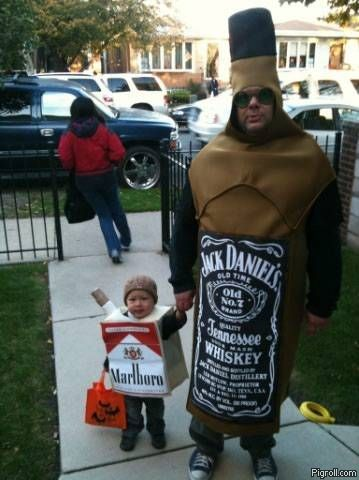 Jack Daniels and Marlboro costumes