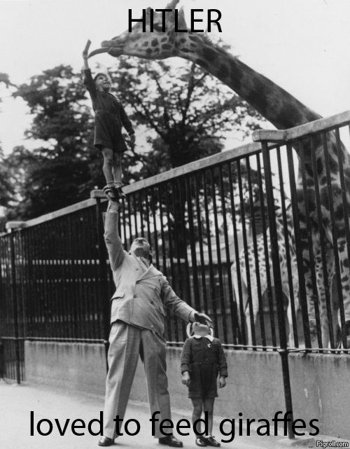 Hitler loved to feed giraffes