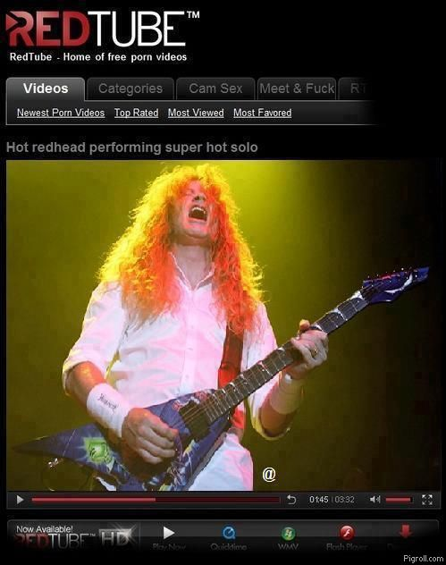 Dave Mustaine on RedTube
