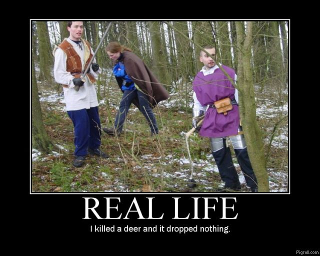 Some faggots playing RPG in a forest