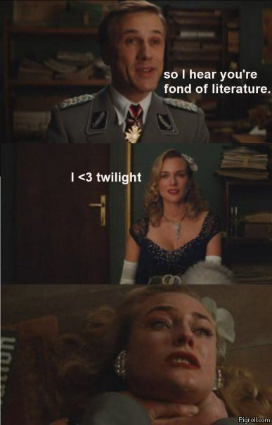 Hans Landa doesn't like Twilight
