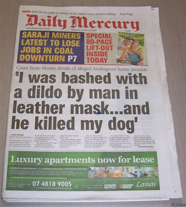 I was bashed with a dildo by man in leather mask