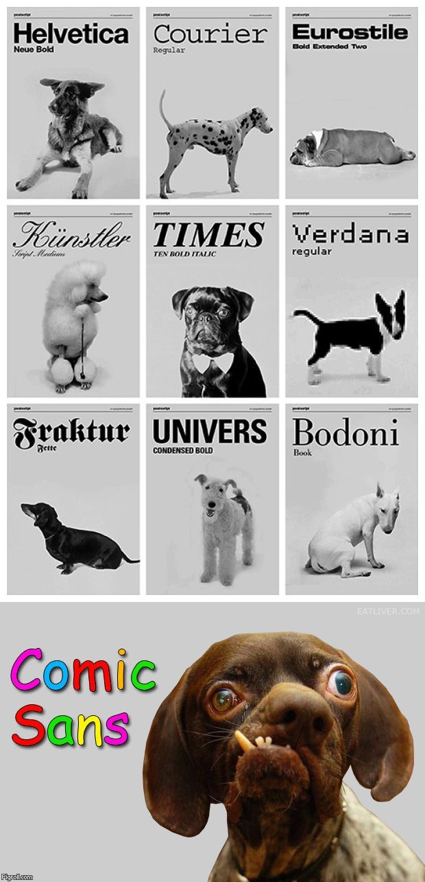 If Comic Sans font were a dog