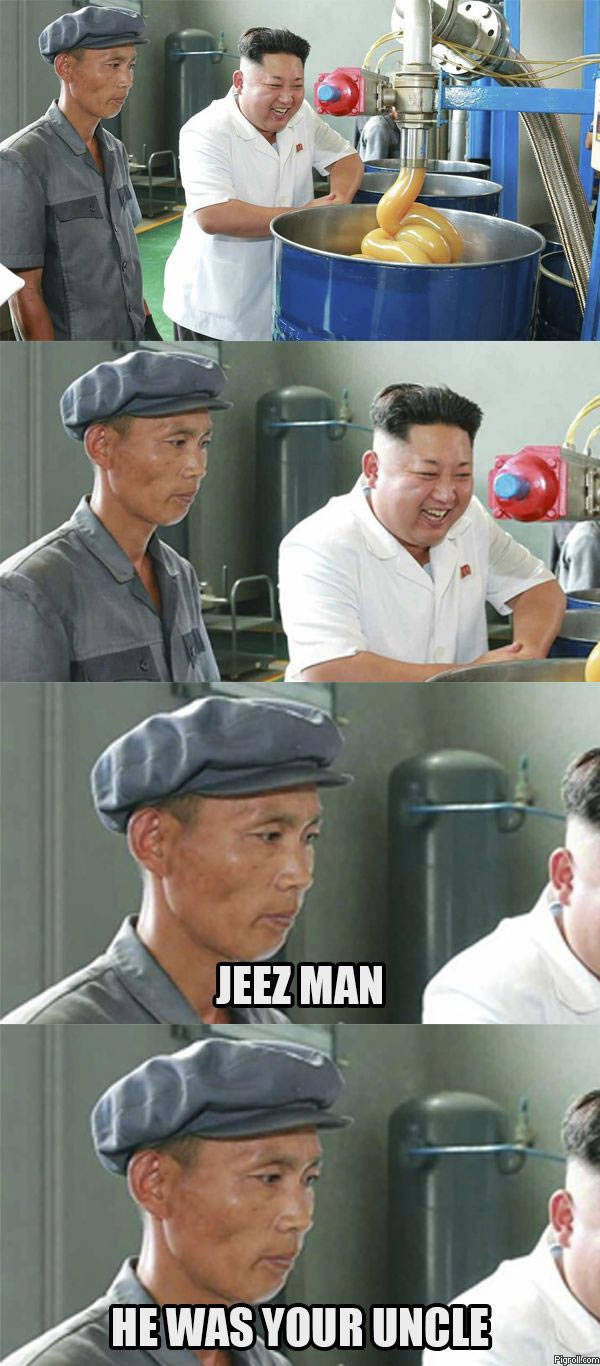 Kim Jong Un making sausages