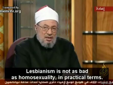 Lesbianism is not as bad as homosexuality
