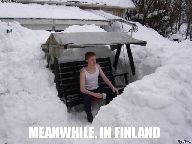 Finnish guy enjoying a beautiful day