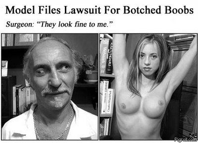 Cross-eyed surgeon and his botched tit job