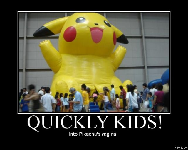 Kids entering Pikachu's vagina