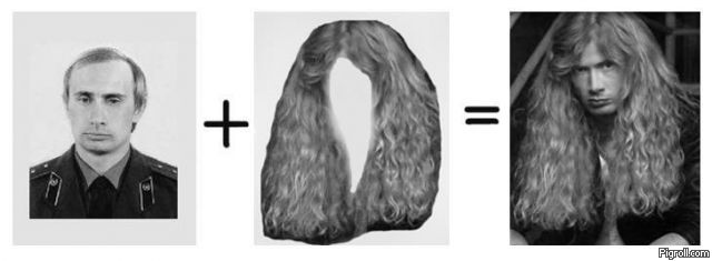 Putin + Hair = Mustaine