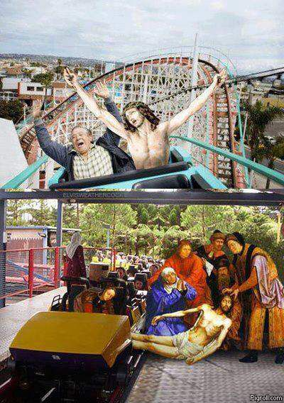 Jesus on a rollercoaster