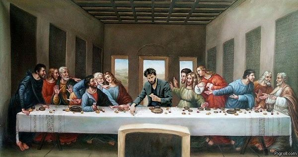 Sad Keanu's Last Supper