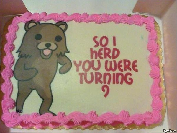 Pedobear birthday cake
