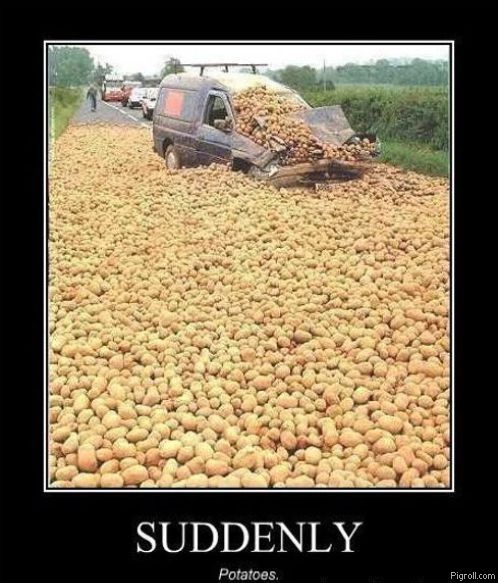Suddenly potatoes