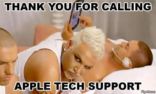 Thank your for calling Apple tech support