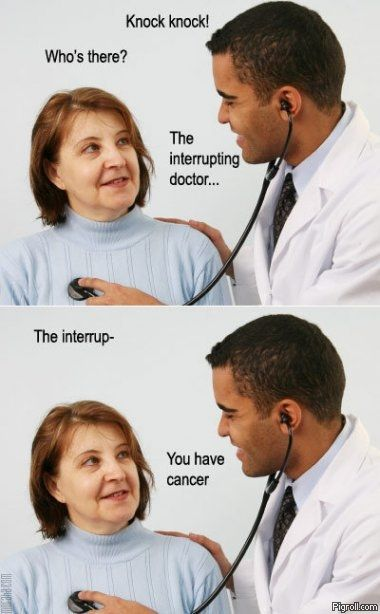 The interrupting doctor