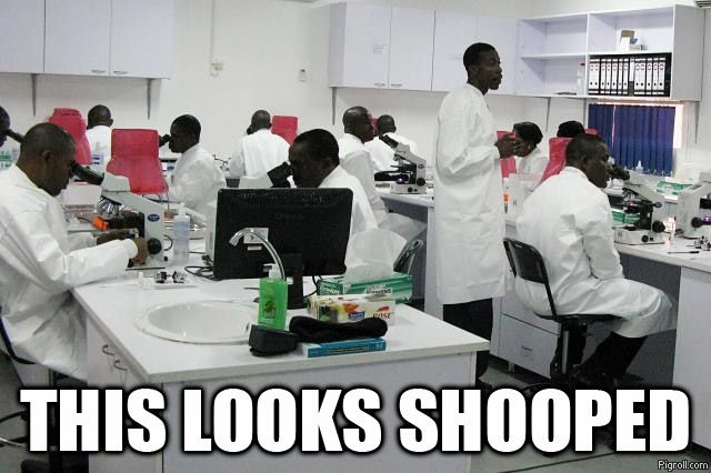 Science lab full of African Americans