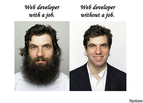 Web developer with a job