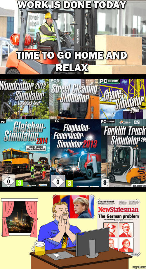 Relaxing work simulator games