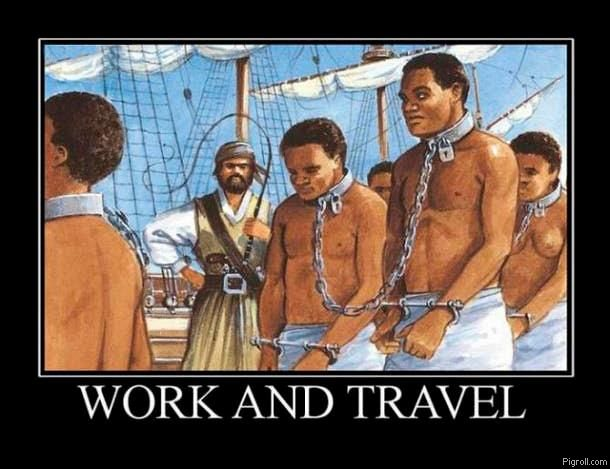 African slaves on a ship
