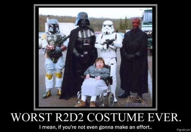 Worst R2D2 costume ever