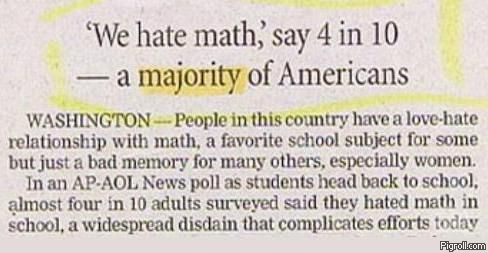 Americans hate math