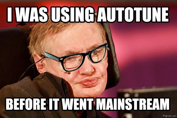 Hipster hawking