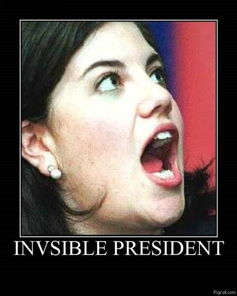 Monica Lewinsky and the invisible president