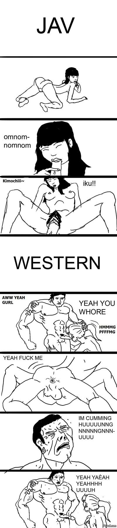 Japanese vs. Western Adult Video