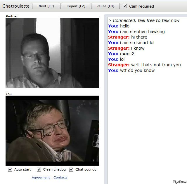 Stephen Hawking on Chatroulette