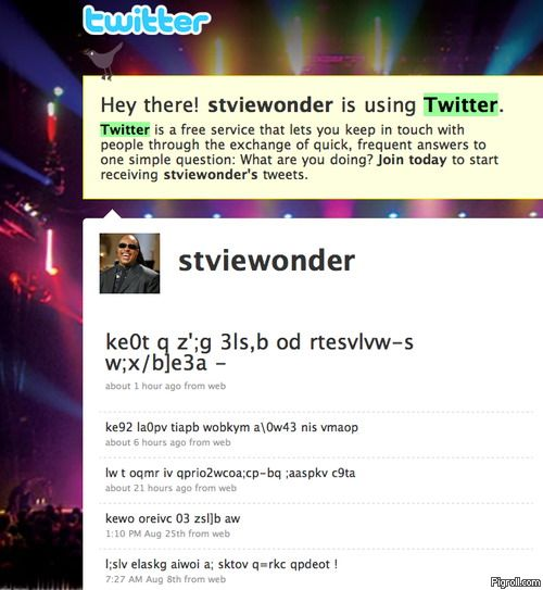 Stevie Wonder on Twitter