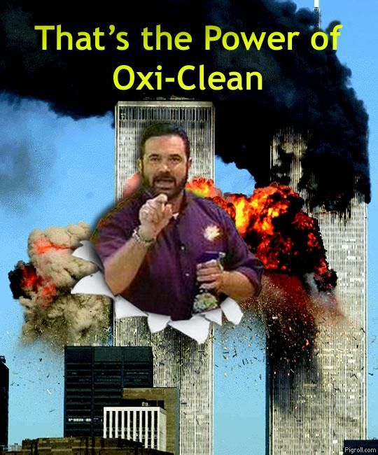 Billy Mays demonstrating the power of Oxi-Clean