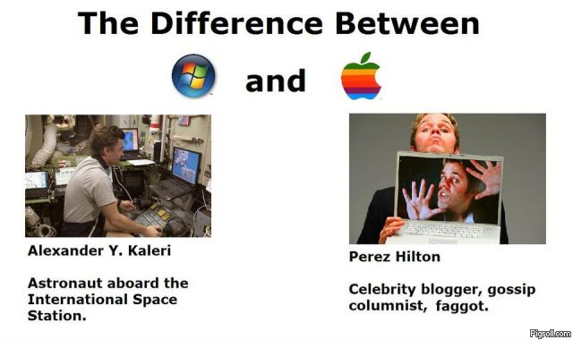 The difference between PC and Mac